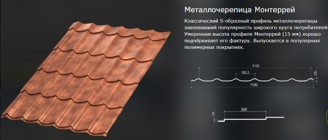 описание металлочерепицы